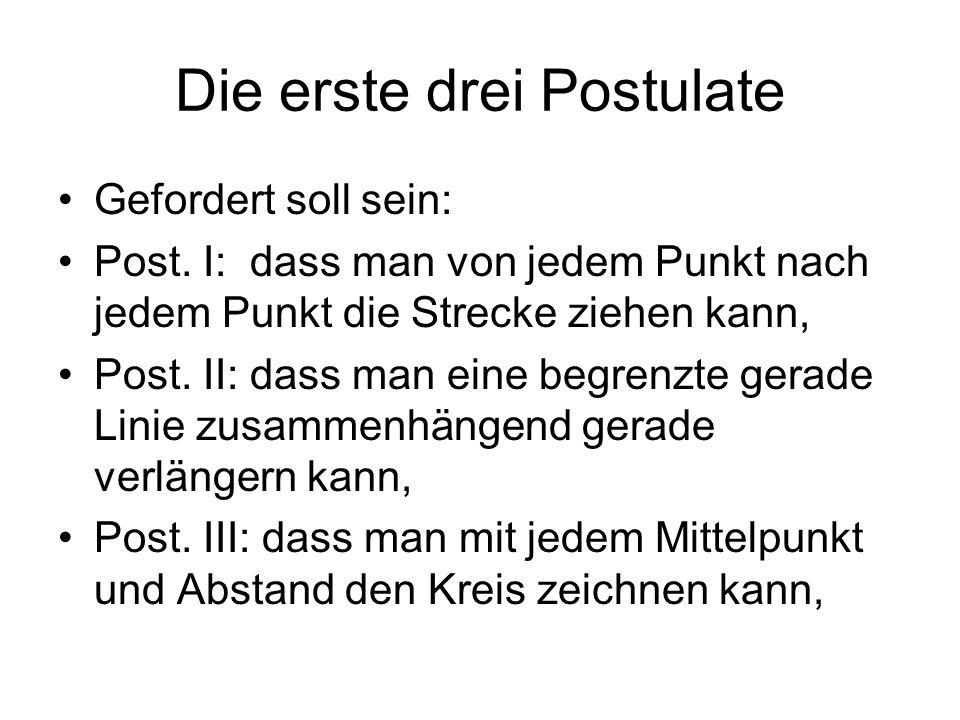 Die erste drei Postulate