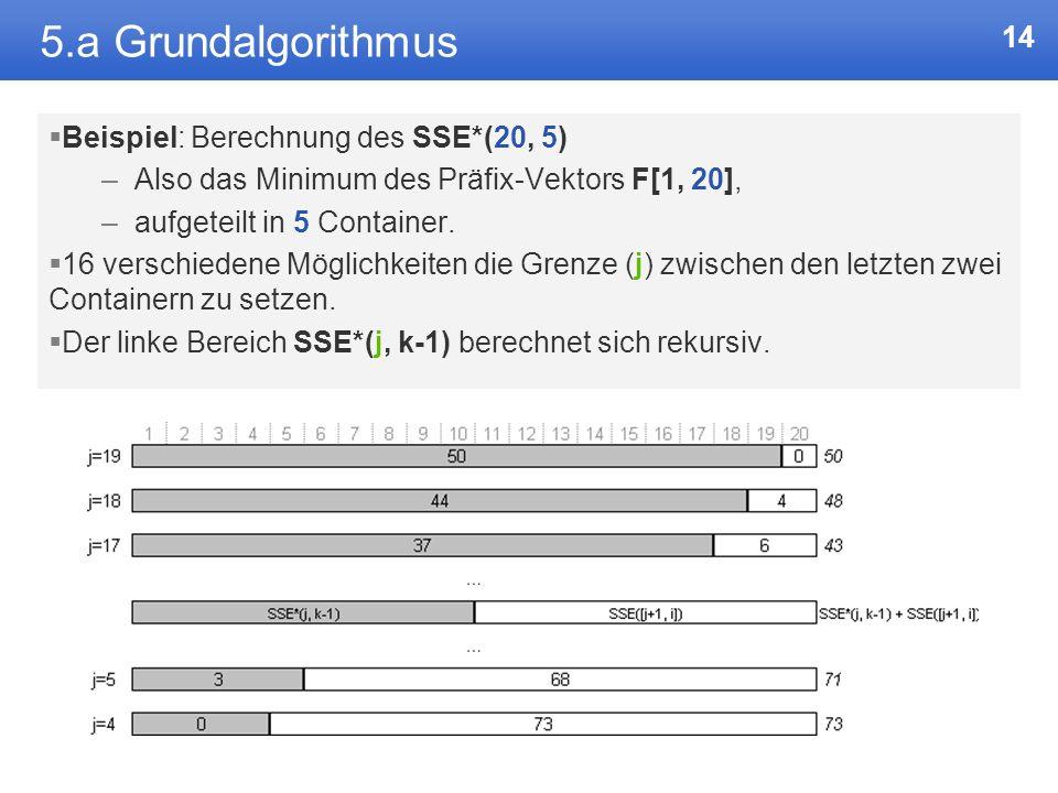 5.a Grundalgorithmus Beispiel: Berechnung des SSE*(20, 5)