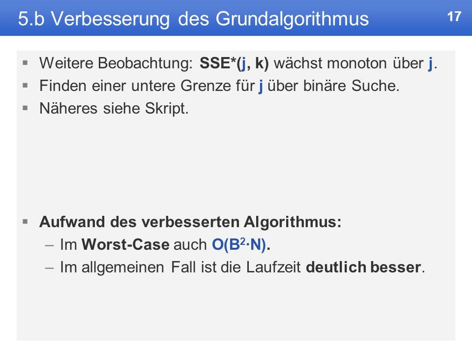 5.b Verbesserung des Grundalgorithmus