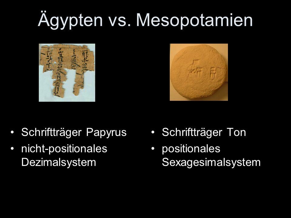 Ägypten vs. Mesopotamien