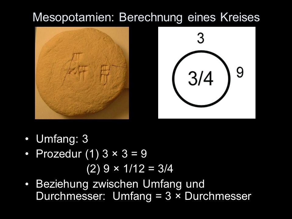 Mesopotamien: Berechnung eines Kreises
