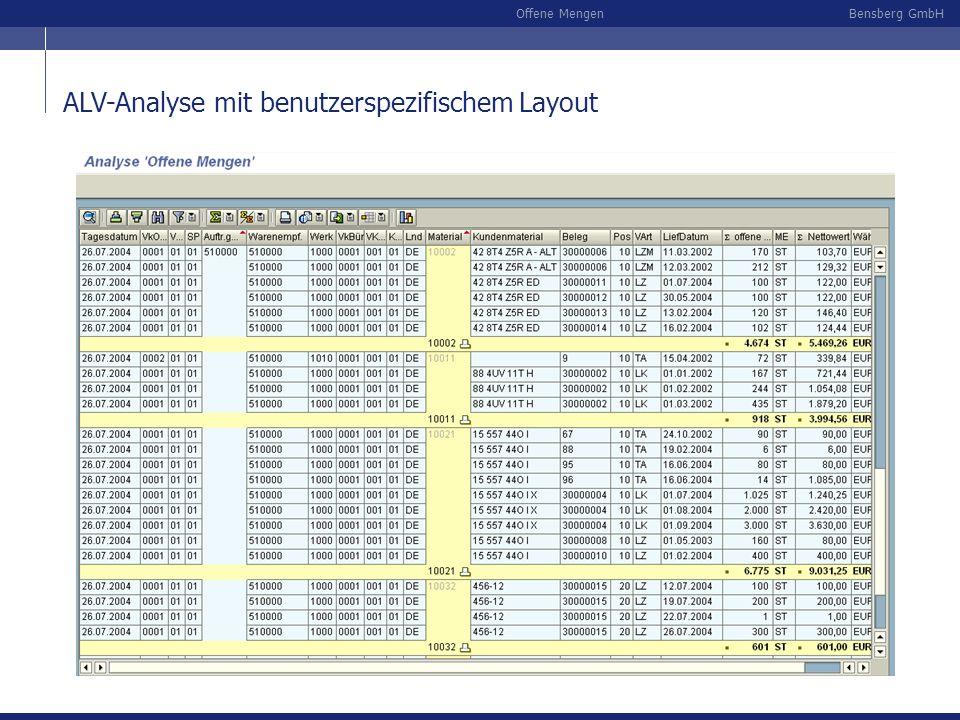 ALV-Analyse mit benutzerspezifischem Layout