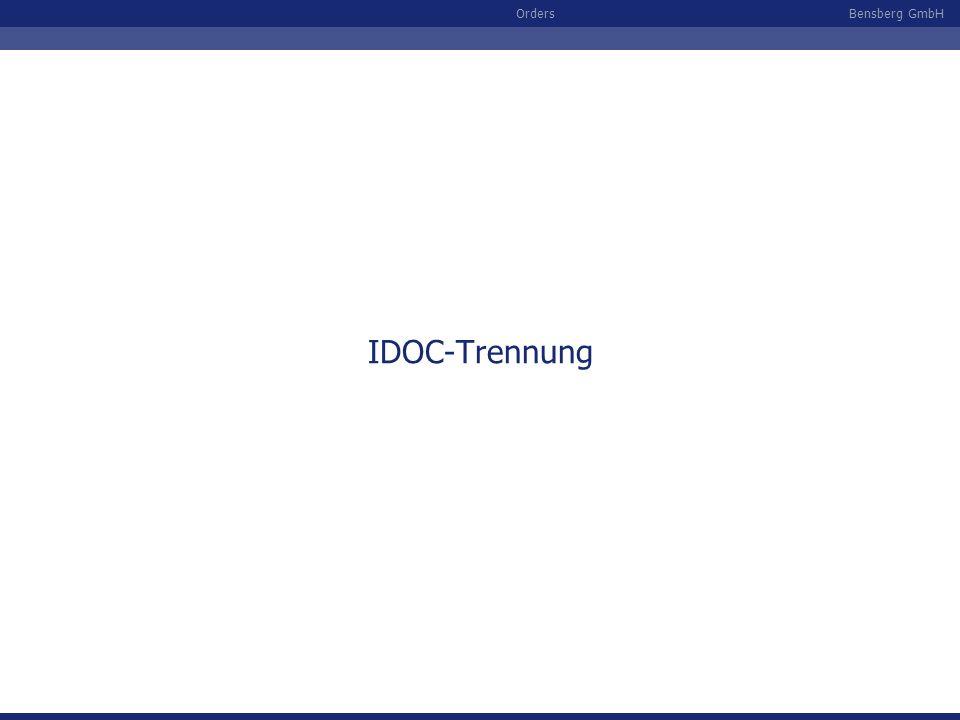 IDOC-Trennung