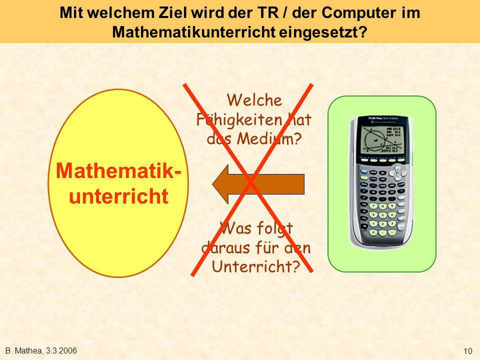 Mathematik- unterricht