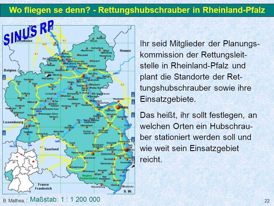 Wo fliegen se denn - Rettungshubschrauber in Rheinland-Pfalz