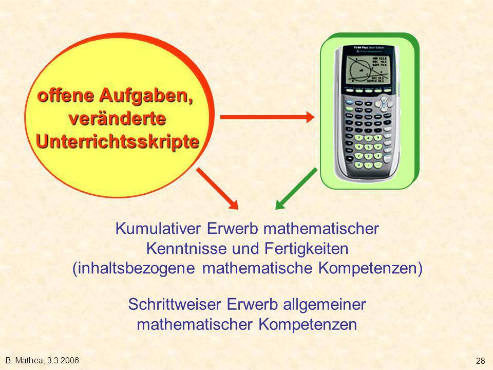 Schrittweiser Erwerb allgemeiner mathematischer Kompetenzen