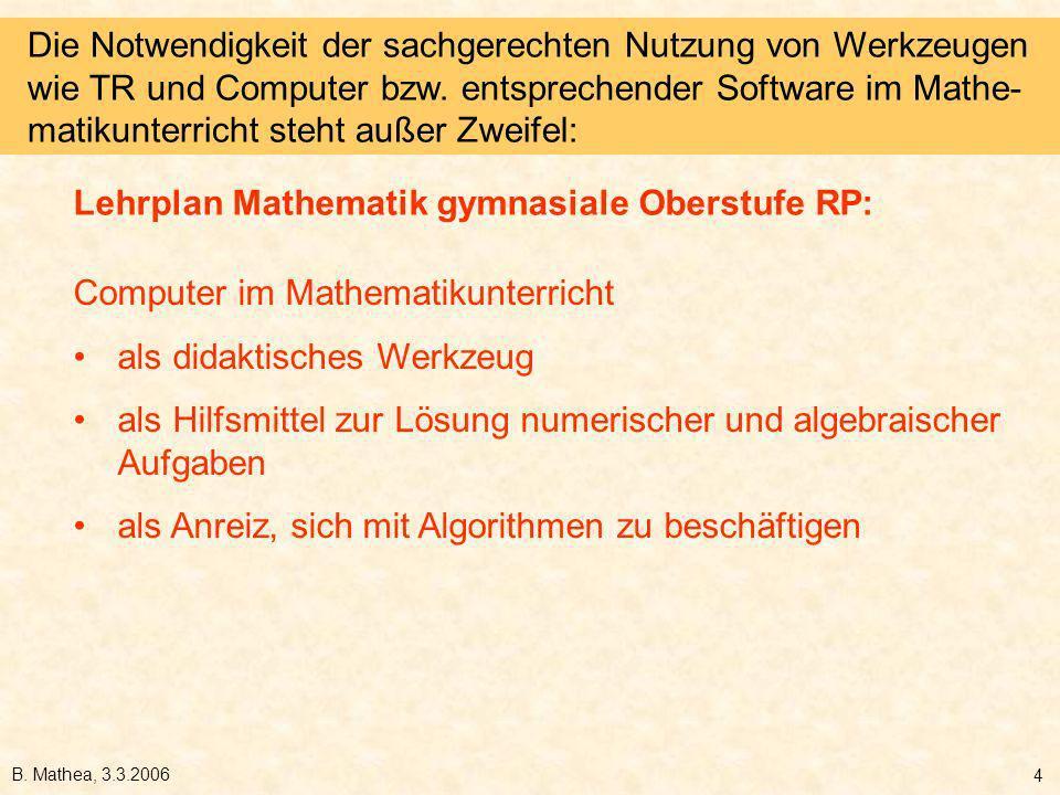 Lehrplan Mathematik gymnasiale Oberstufe RP: