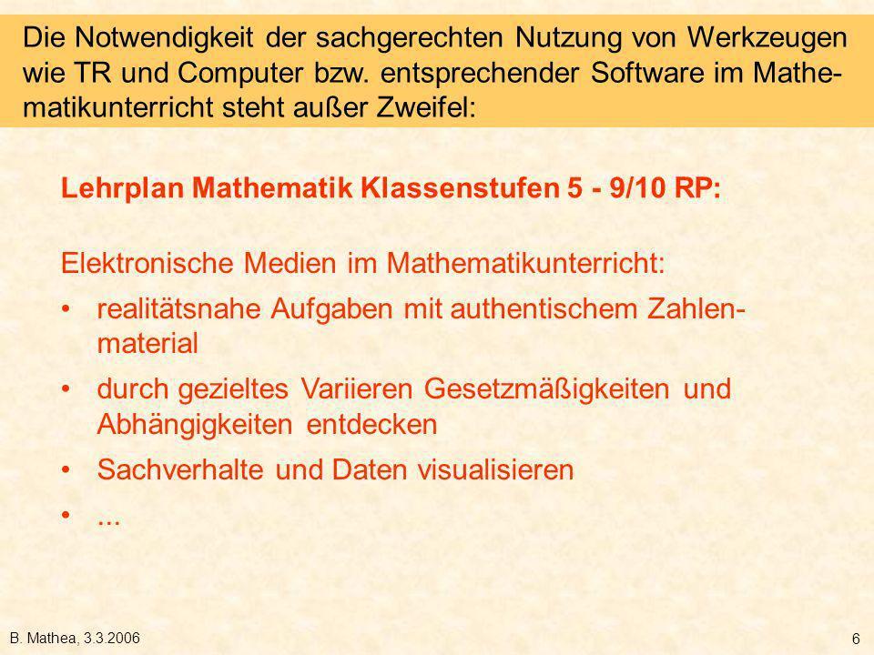 Lehrplan Mathematik Klassenstufen 5 - 9/10 RP: