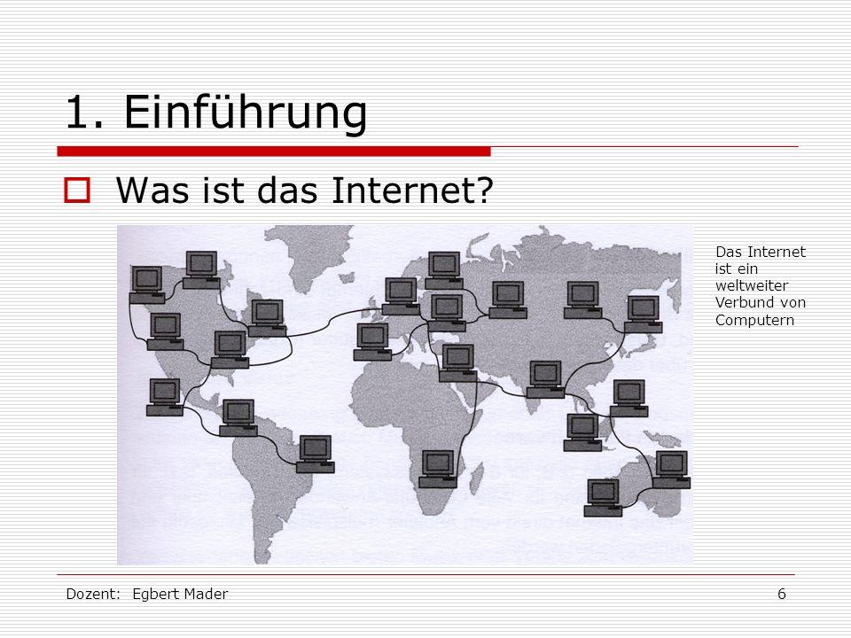 1. Einführung Was ist das Internet