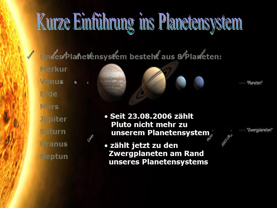 Kurze Einführung ins Planetensystem