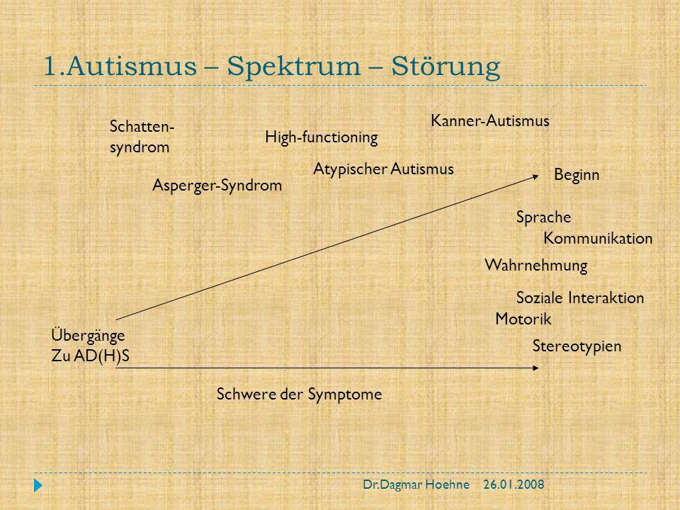 1.Autismus – Spektrum – Störung
