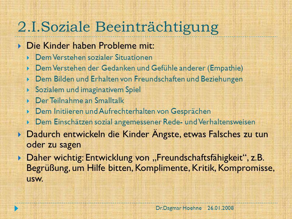 2.I.Soziale Beeinträchtigung