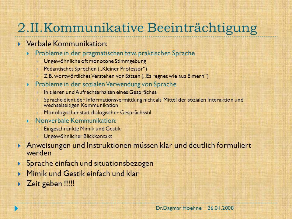 2.II.Kommunikative Beeinträchtigung