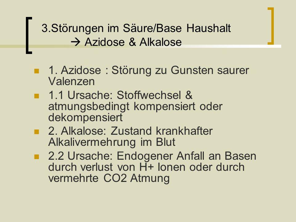 3.Störungen im Säure/Base Haushalt  Azidose & Alkalose