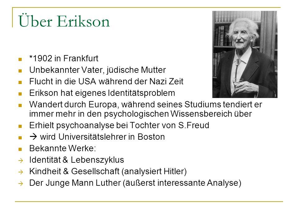 Über Erikson *1902 in Frankfurt Unbekannter Vater, jüdische Mutter