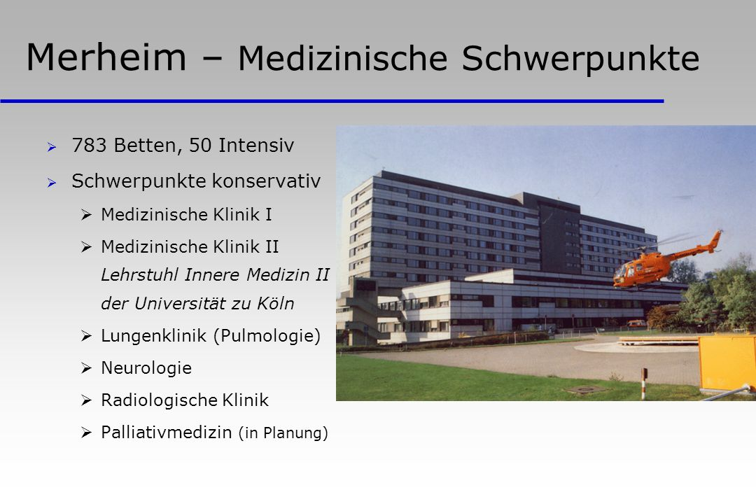 Merheim – Medizinische Schwerpunkte