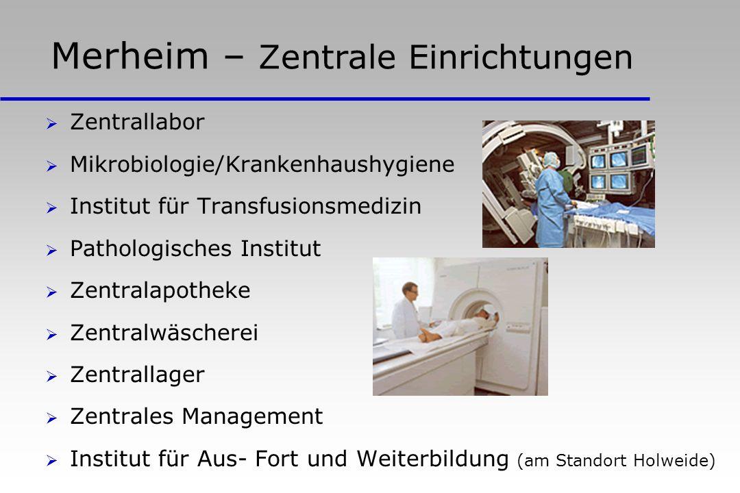Merheim – Zentrale Einrichtungen