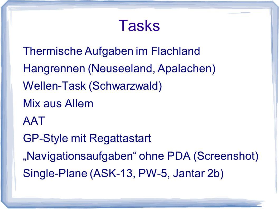 Tasks Thermische Aufgaben im Flachland