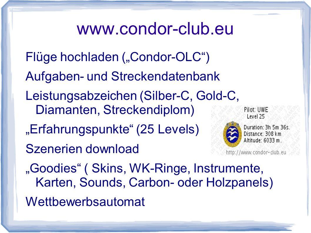 "www.condor-club.eu Flüge hochladen (""Condor-OLC )"