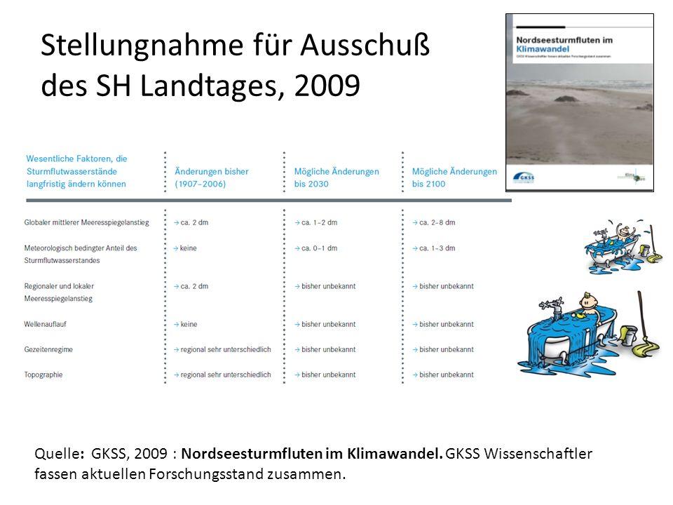 Stellungnahme für Ausschuß des SH Landtages, 2009