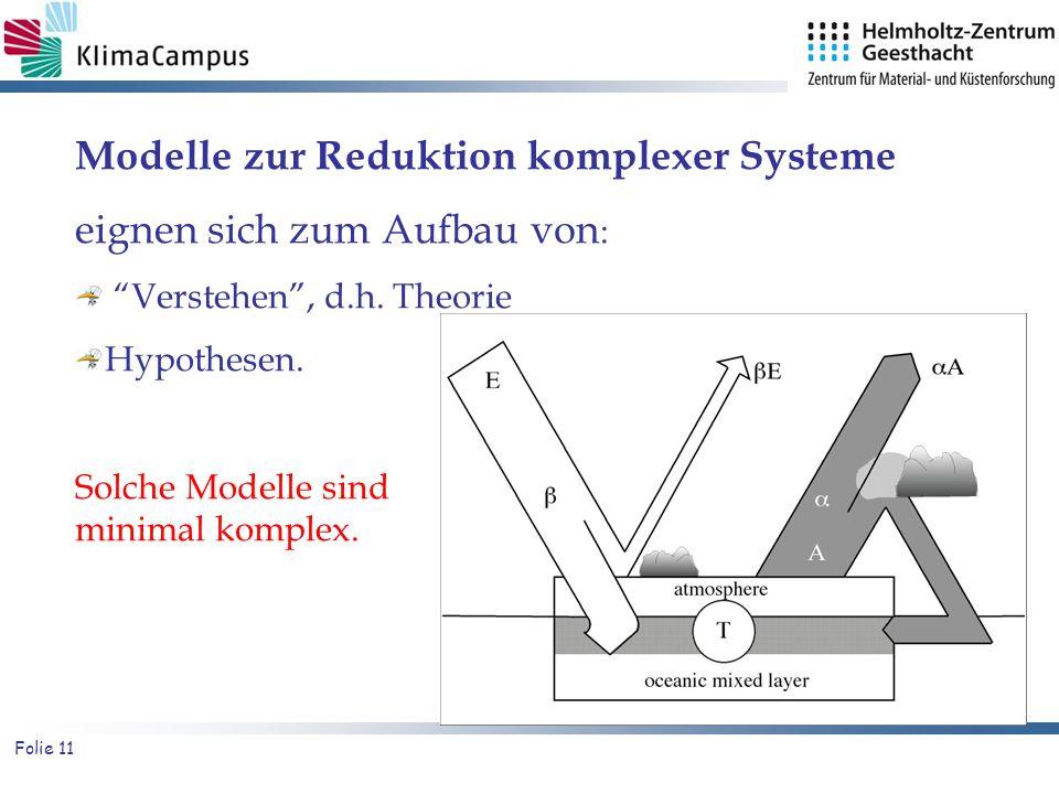 Modelle zur Reduktion komplexer Systeme eignen sich zum Aufbau von: