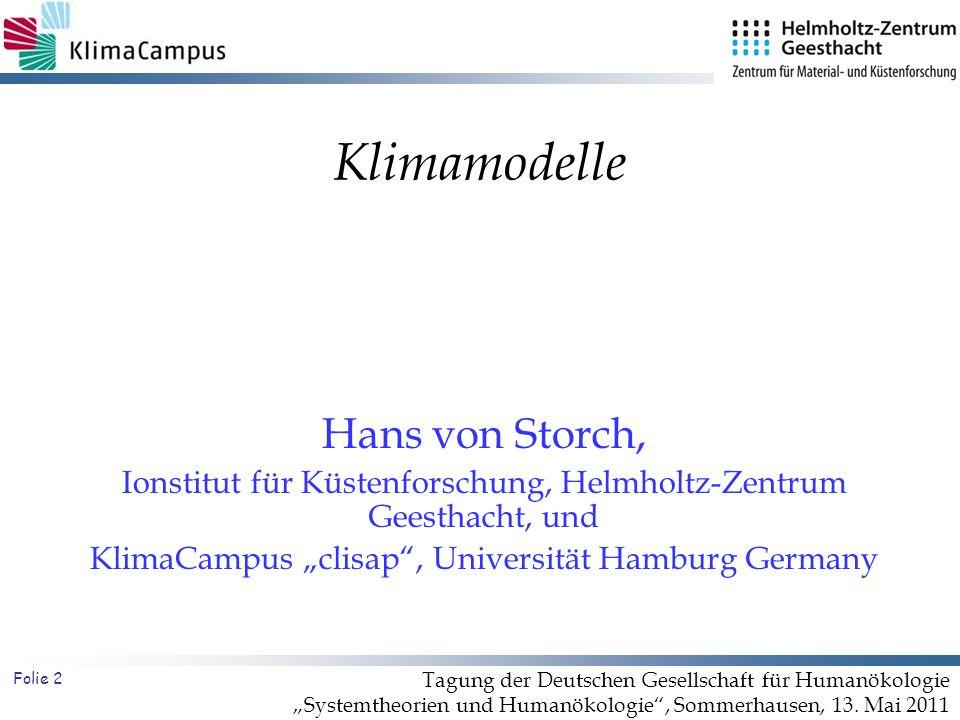 Klimamodelle Hans von Storch,