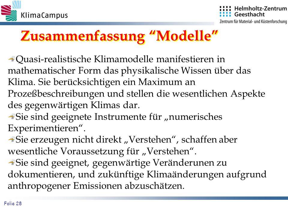 Zusammenfassung Modelle