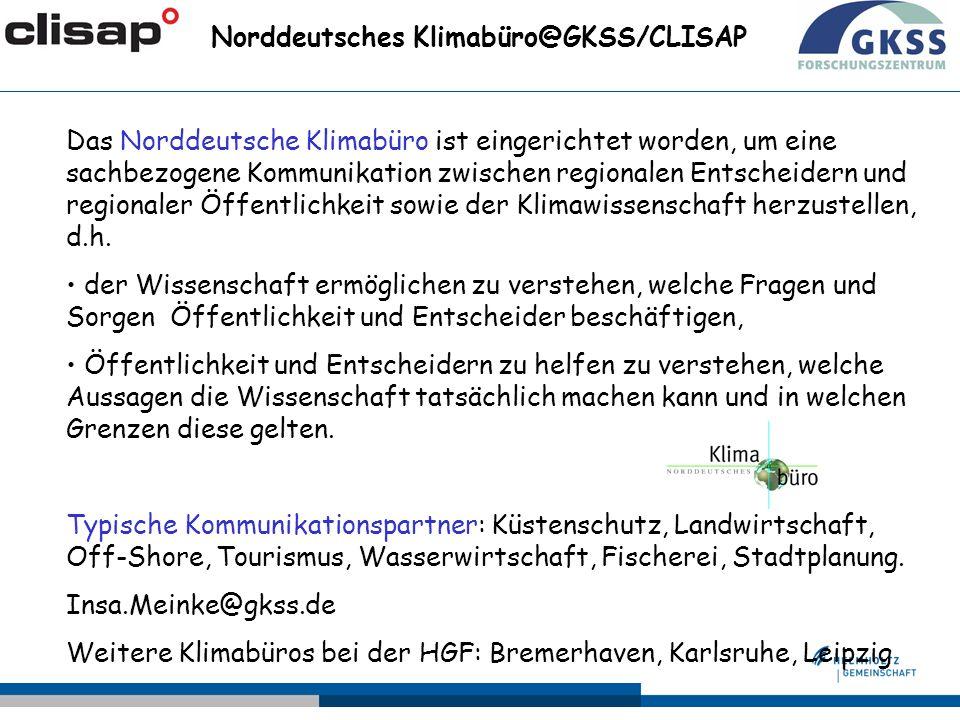 Norddeutsches Klimabüro@GKSS/CLISAP