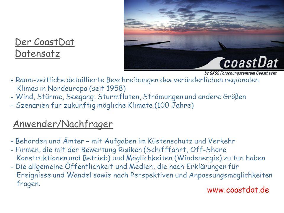 Der CoastDat Datensatz GKSS in Geesthacht