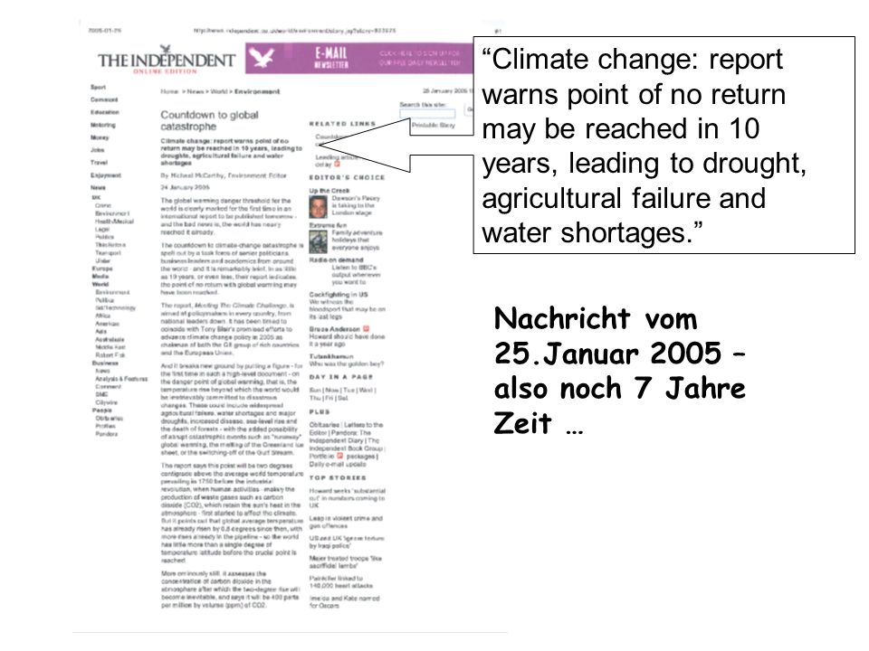 Climate change: report