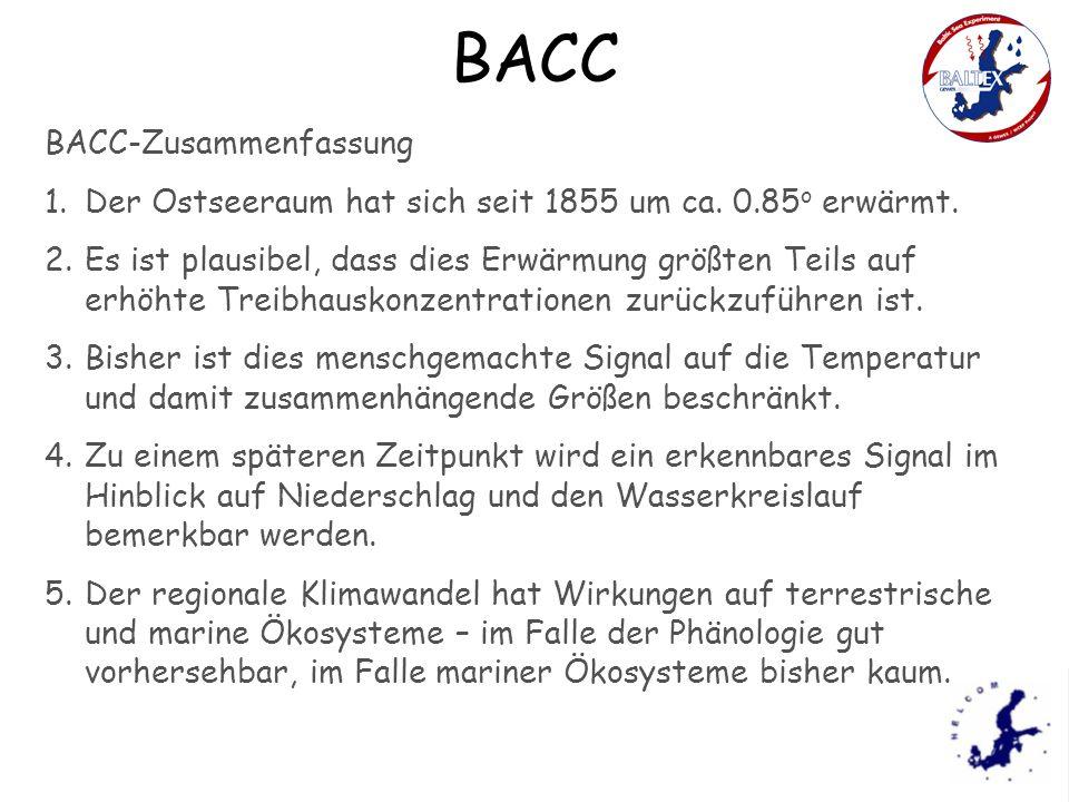 BACC BACC-Zusammenfassung