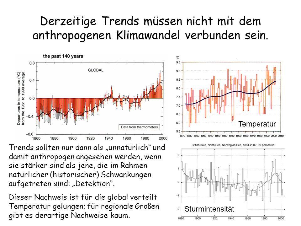 Derzeitige Trends müssen nicht mit dem anthropogenen Klimawandel verbunden sein.