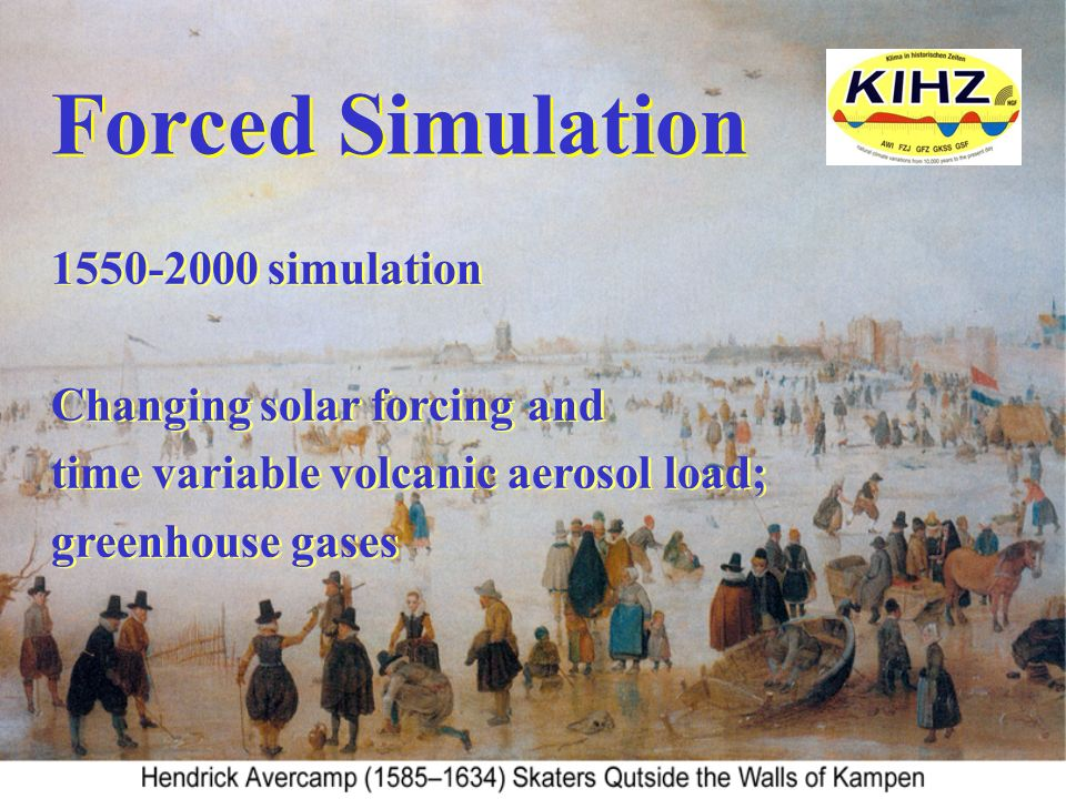 Forced Simulation 1550-2000 simulation Changing solar forcing and