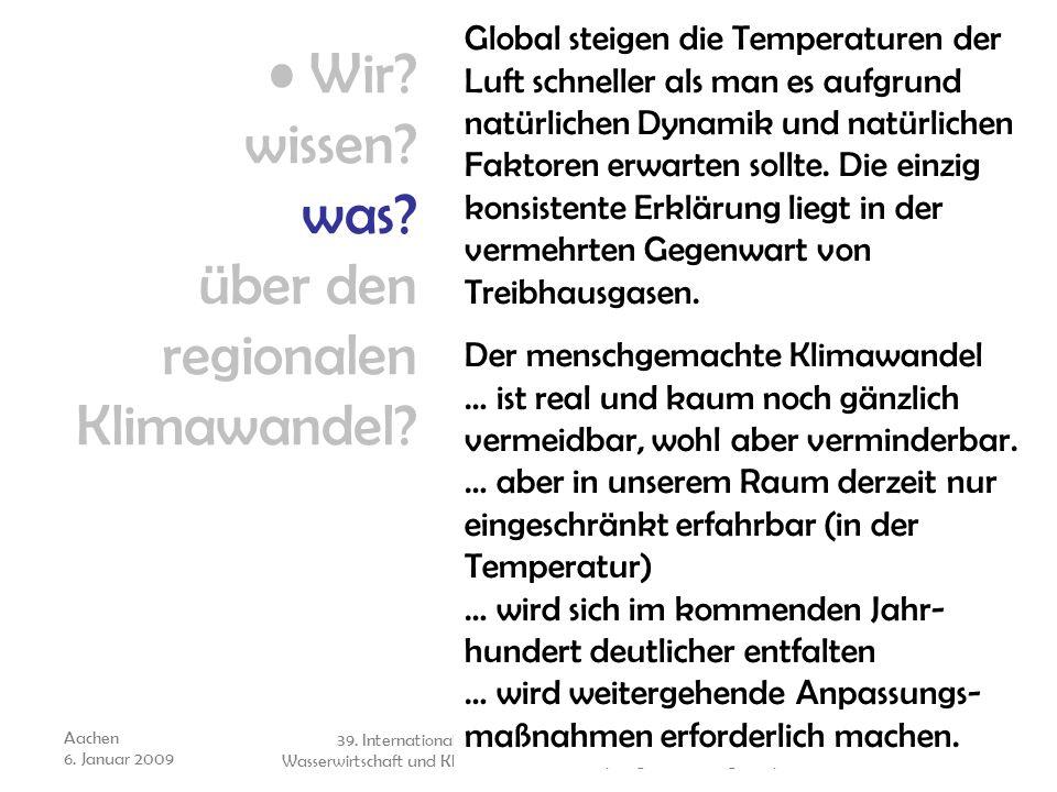 Wir wissen was über den regionalen Klimawandel