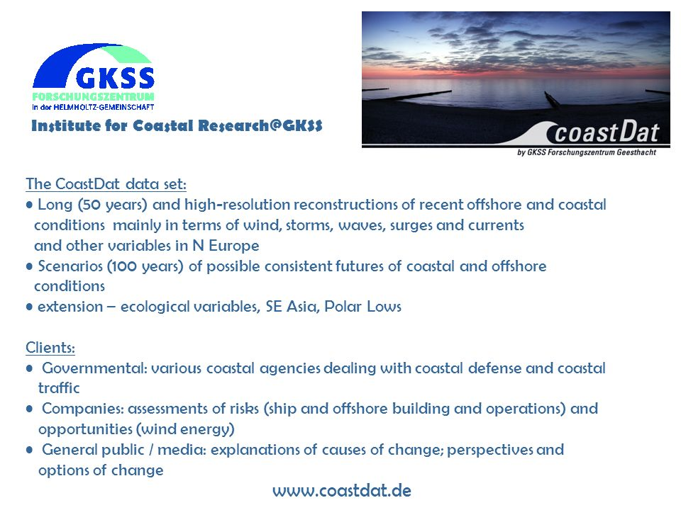Institute for Coastal Research@GKSS