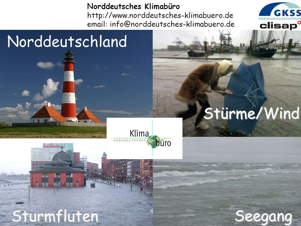 Norddeutschland Stürme/Wind Sturmfluten Seegang