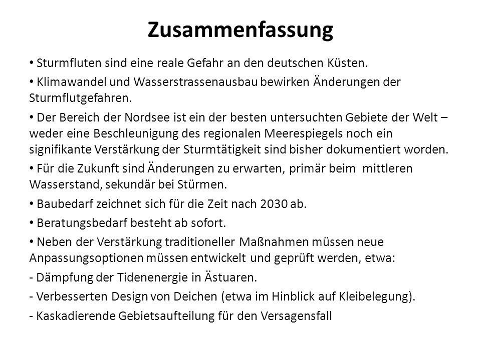ZusammenfassungSturmfluten sind eine reale Gefahr an den deutschen Küsten.