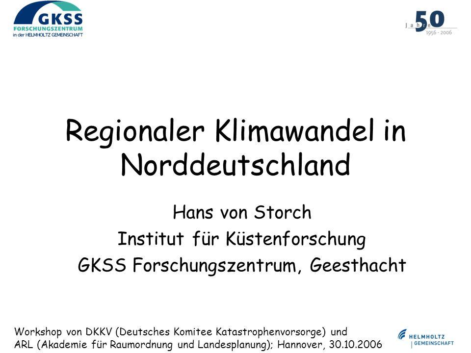 Regionaler Klimawandel in Norddeutschland
