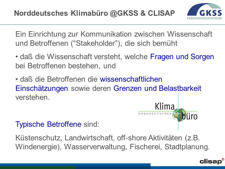 Norddeutsches Klimabüro @GKSS & CLISAP