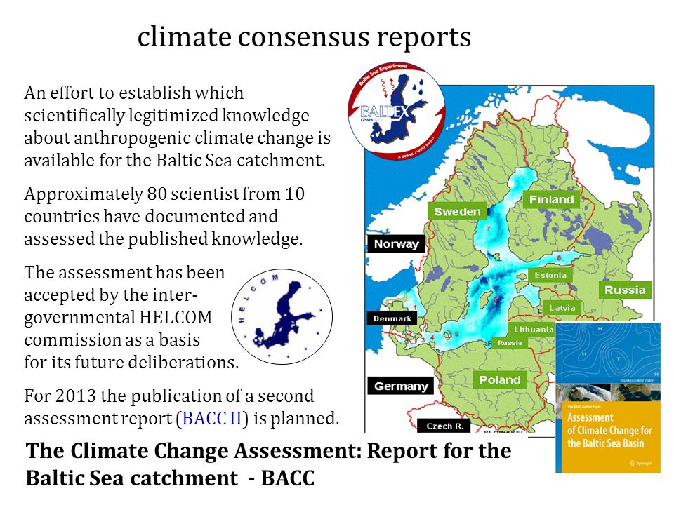 climate consensus reports