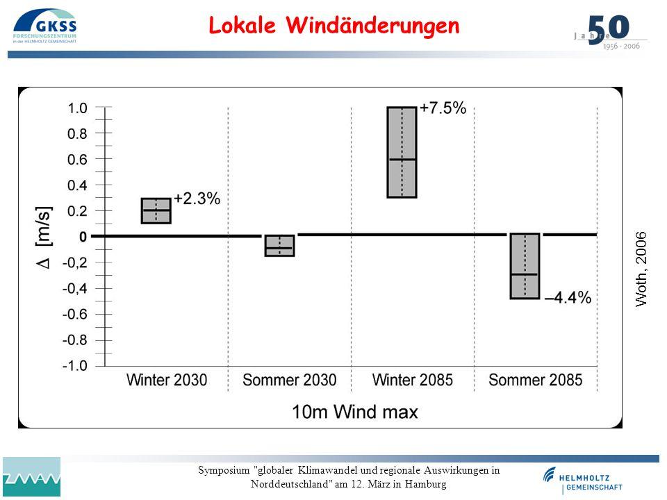 Lokale Windänderungen