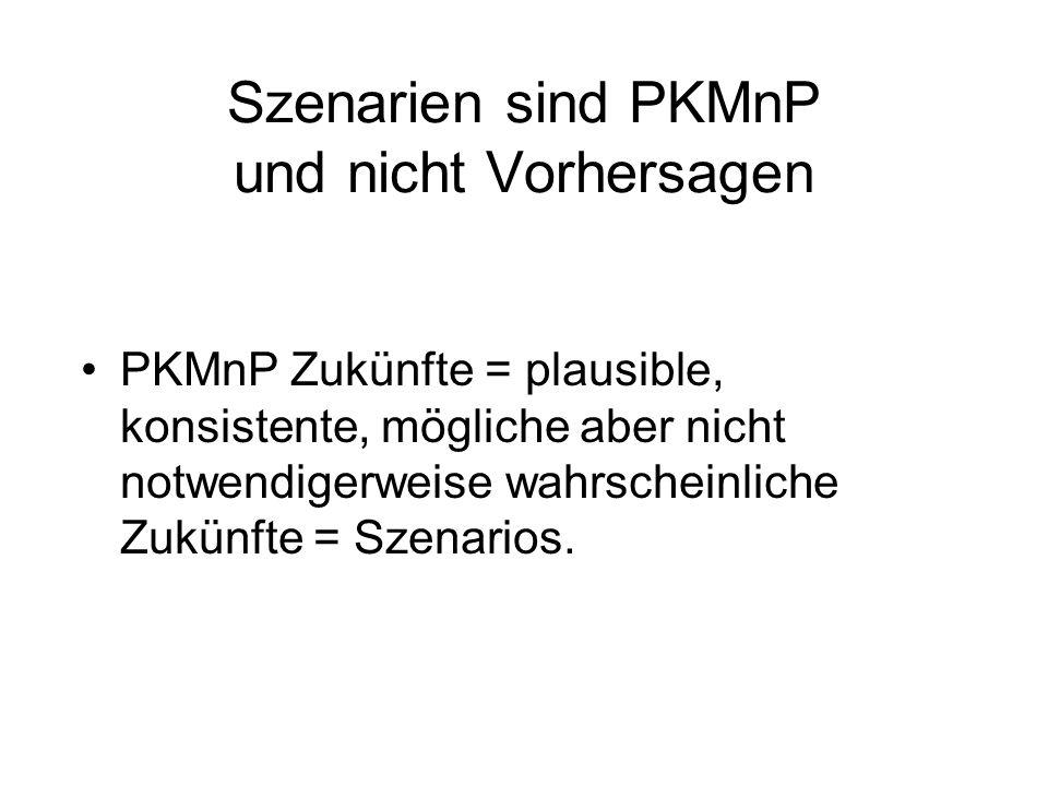 Szenarien sind PKMnP und nicht Vorhersagen