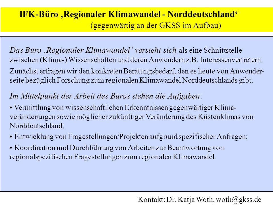 IFK-Büro 'Regionaler Klimawandel - Norddeutschland'