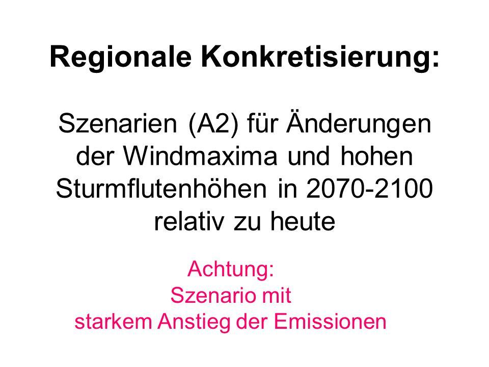 Achtung: Szenario mit starkem Anstieg der Emissionen