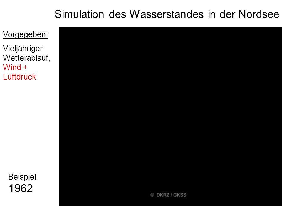 Simulation des Wasserstandes in der Nordsee