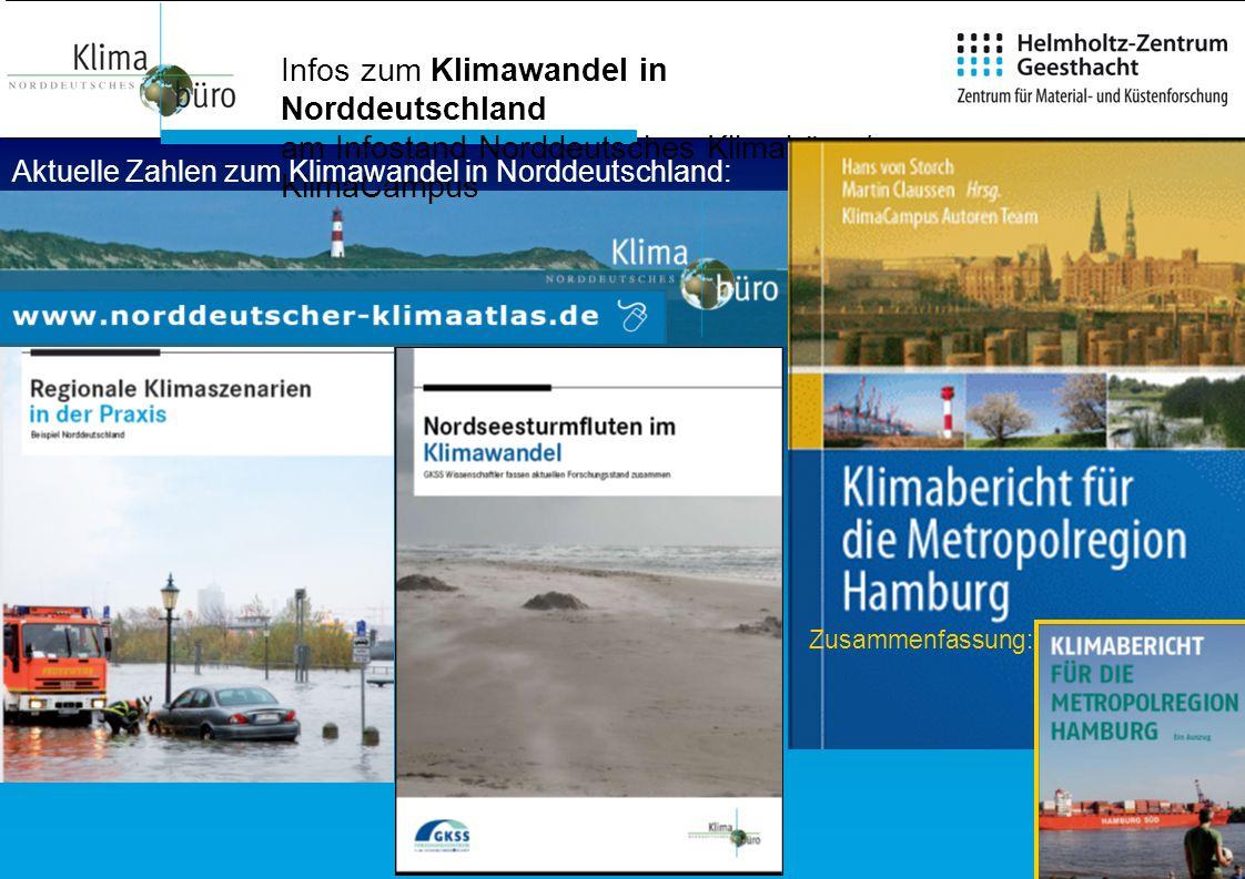 Aktuelle Zahlen zum Klimawandel in Norddeutschland: