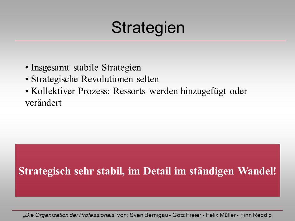 Strategisch sehr stabil, im Detail im ständigen Wandel!