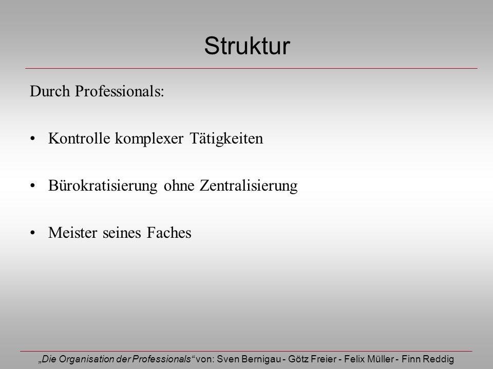 Struktur Durch Professionals: Kontrolle komplexer Tätigkeiten