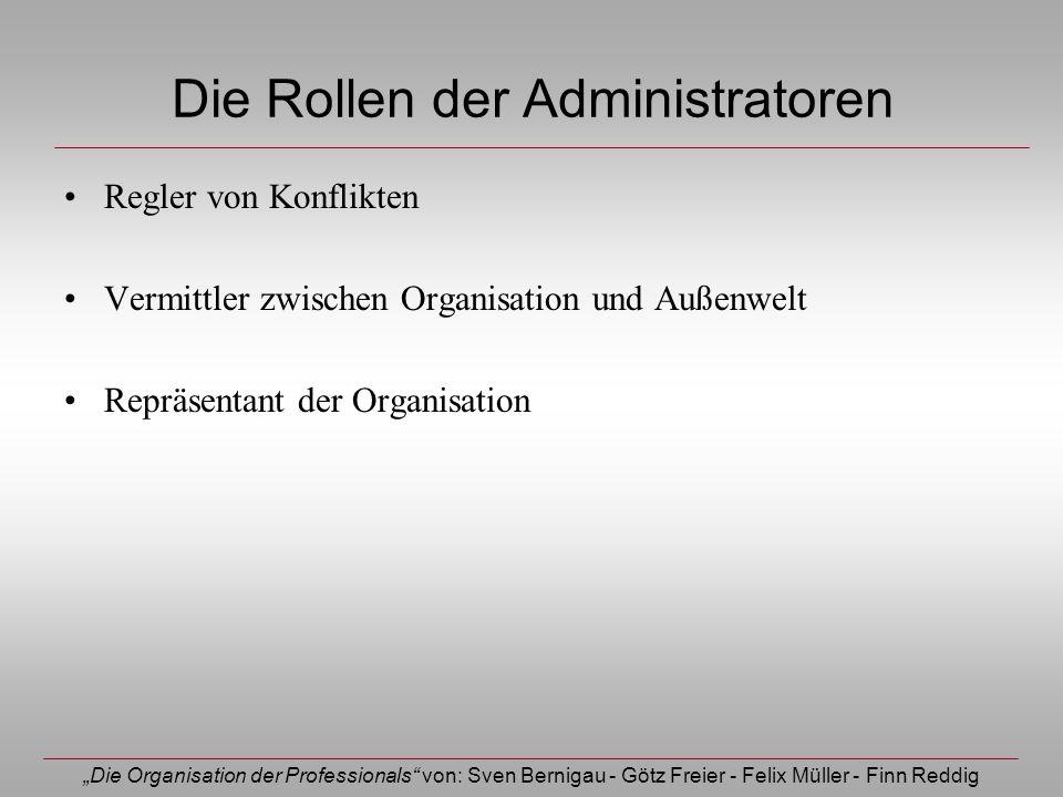 Die Rollen der Administratoren