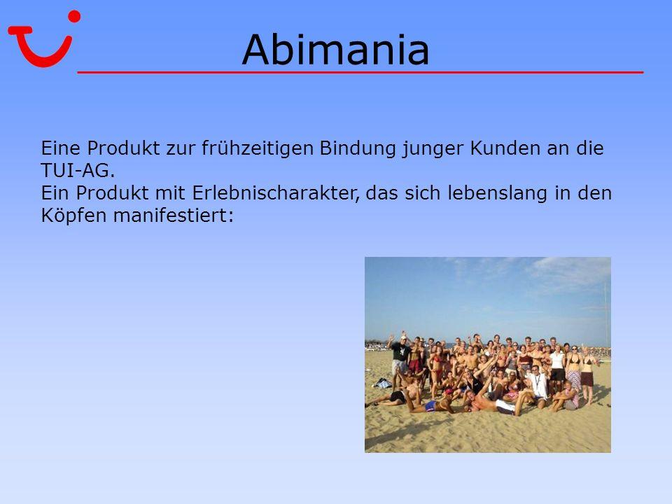 Abimania Eine Produkt zur frühzeitigen Bindung junger Kunden an die TUI-AG.